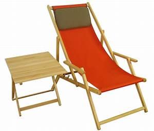 Erst Holz : liegestuhl terracotta gartenliege tisch kissen deckchair ~ A.2002-acura-tl-radio.info Haus und Dekorationen