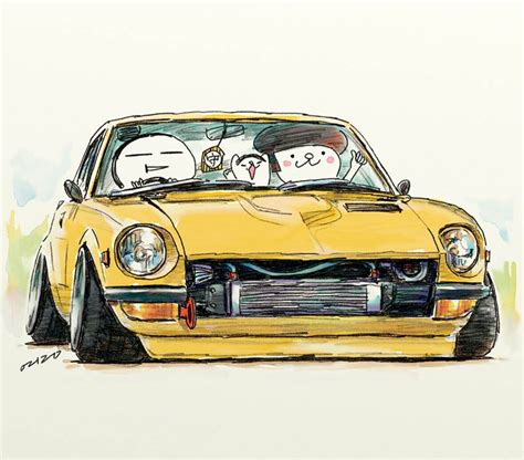 "Car Illustration""crazy Car Art""jdm Japanese Old School"