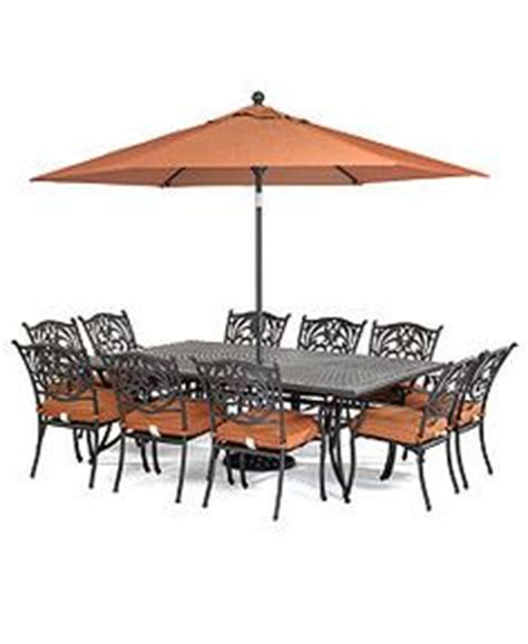buy sorrento 6 seater patio furniture set with parasol
