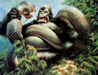 King Kong Wallpapers Snake Gorilla Background Backgrounds