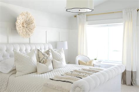 futuristic bedroom set with suspended how to decorate with white popsugar home
