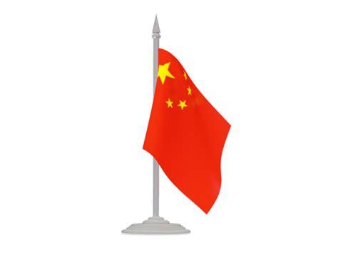 Flag with flagpole. Illustration of flag of China