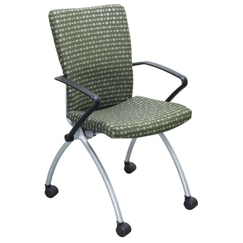 haworth x99 seminar used nesting chair green national