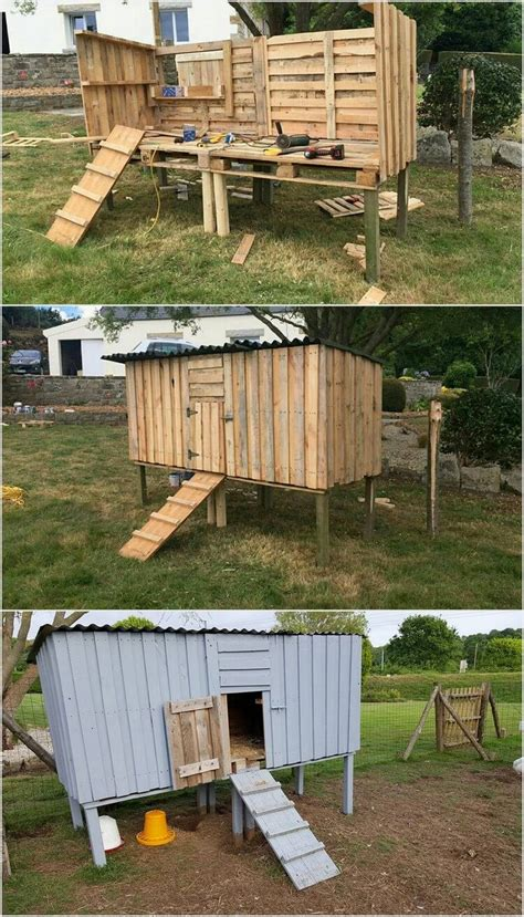 chicken coop    shipping wood pallets pallet