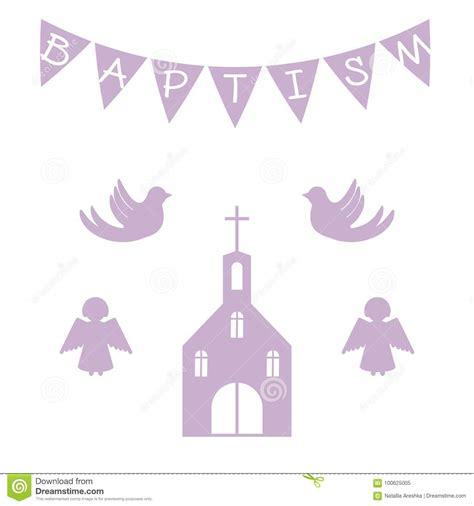 Christening Baptism Invitation Royalty Free Illustration