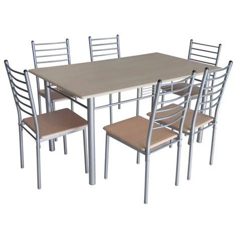 table de cuisine pas cher table de cuisine salle à manger 6 chaises ella achat
