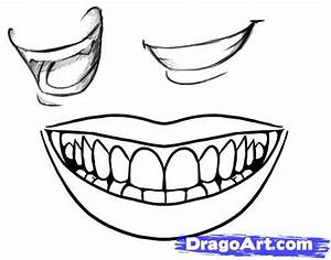 How to Draw a Smile, Step by Step, Mouth, People, FREE ...