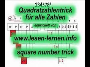 Quadratzahlen Berechnen : mathetrick quadratzahlen einfach berechnen square ~ Themetempest.com Abrechnung