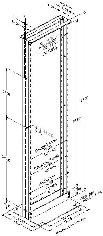 Chatsworth Standard Rack - Cableorganizer.com