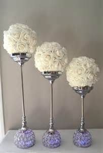 cake stands for weddings candle holder set of 3 silver bling rhinestone