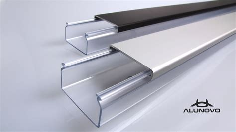 Transparenter Kabelkanal  Alunovo® Kabelkanal Manufaktur