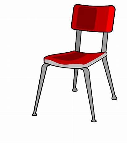 Chair Clipart Desk Student Cartoon Classroom Clip