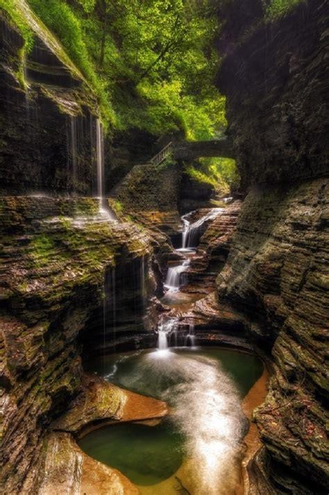 waterfalls states united usa falls york rainbow glen watkins waterfall state breath away take ny park places potholes national parks
