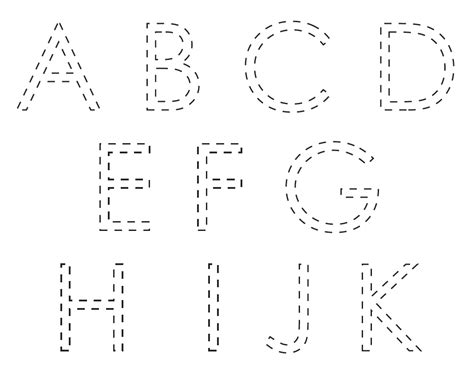 Free Printable Tracing Letters for Kids
