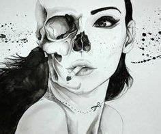 pretty girl  skull tattoo idea awesome tattoos