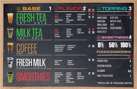 art   menu boba