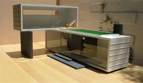 playful minitecture  ultra modern dollhouse designs