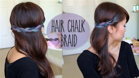 Diy Rainbow Braid Hairstyle Splat Hair Chalk Tutorial