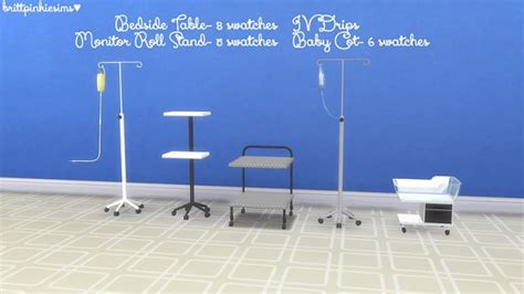 brittpinkiesims hospital set sims  downloads