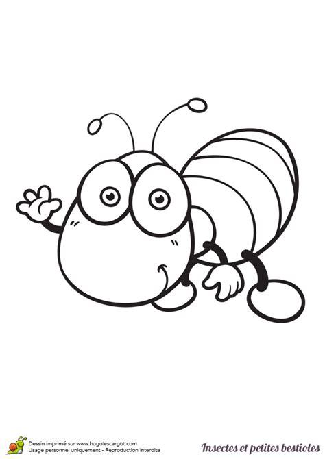 cuisine facile et rapide dessin à colorier insecte et bestiole un ver