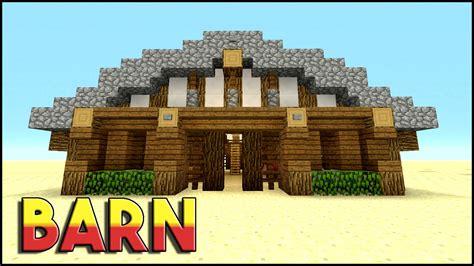 barn minecraft   build  barn tutorial medieval barn ps ps xbox mcpe youtube