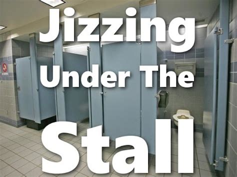 jizzing under the bathroom stall prank youtube