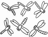 Dragonfly Coloring Pages Dragonflies Cartoon Printable Simple Drawing Dragon Cute Flies Clipart Print Colouring Cliparts Clip Fly Realistic Drawings Insect sketch template