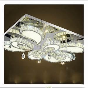 Flush Mount Rectangular Kitchen Light Modern Led Flush Mount Rectangular Crystal Ceiling Lights
