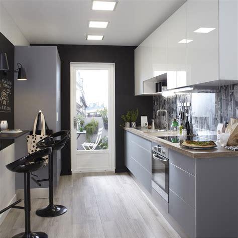 papier peint cuisine gris meuble de cuisine gris delinia leroy merlin