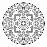 Coloring Geometric Pages Geometry Sacred Mandala Cool Beaver Fractal Therapy Dam Complex Colouring Adult Para Mandalas Books Colorear Printable Sheets sketch template