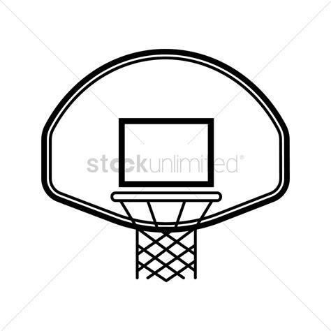basketball hoop backboard clipart basketball backboard and vector image 1984720
