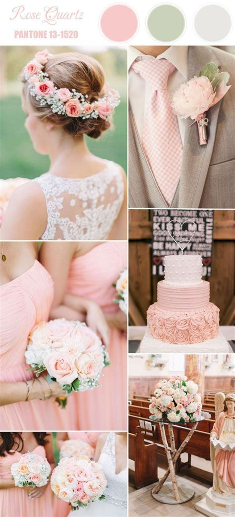 spring 2016 rose pink wedding color combo ideas inspired