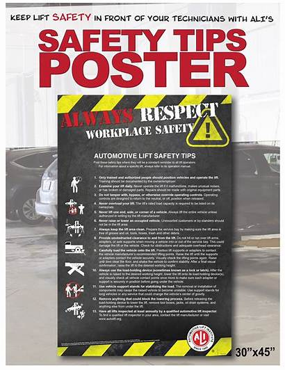 Poster Safety Tips Automotive Lift Ali Posters