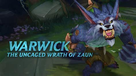 warwick champion spotlight gameplay league  legends youtube
