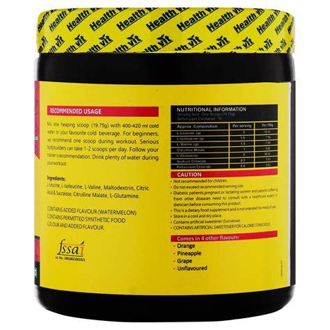 Healthvit Fitness BCAA 6000, 400g Powder (Watermelon) Pre ...