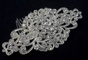 Vintage Hair Comb Bridal Wedding Crystal Rhinestone Hair