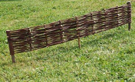 Willow Garden Border Edging Fence 1m (39'') Long Tall 0