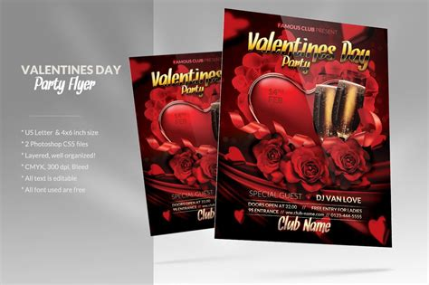 valentines day party flyer flyer templates creative