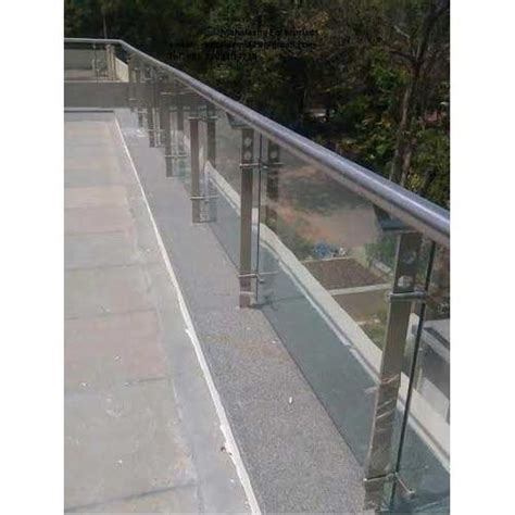 beautiful terrace glass railing glass staircase railing