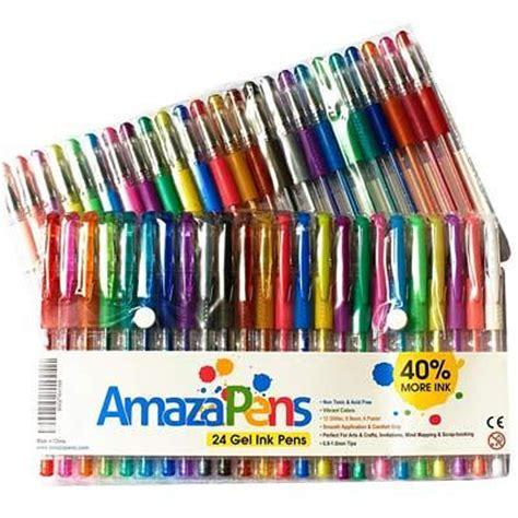 gel pens  writing drawing  sketching
