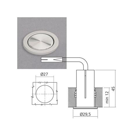 eclairage led plan de travail cuisine kit 3 spots led à encastrer ø78 mm interrupteur