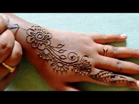 simple mehndi designs  hands step  step  beginners