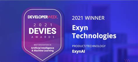 Exyn Wins 2021 DEVIES Award in Artificial Intelligence & Machine Learning - Mining Technology ...