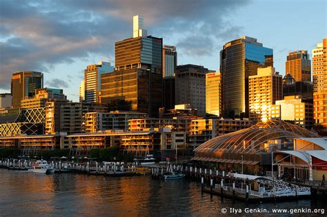 darling harbour  sunset sydney  south wales
