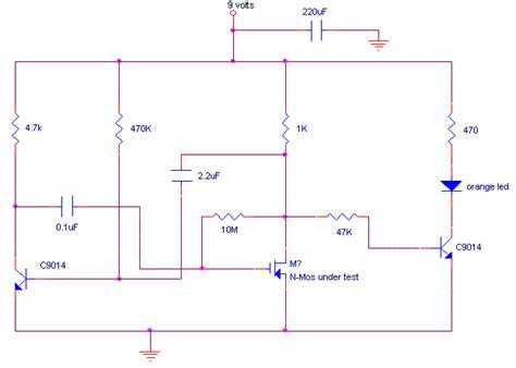 How Build Mosfet Tester Circuit Diagram
