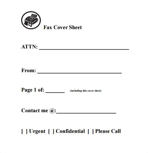 Fax Cover Sheet Template Free Fax Cover Sheet Template Printable Pdf Word Exle