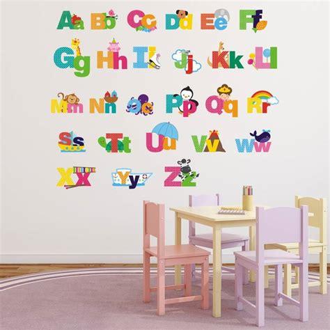picture alphabet wall stickers  mirrorin