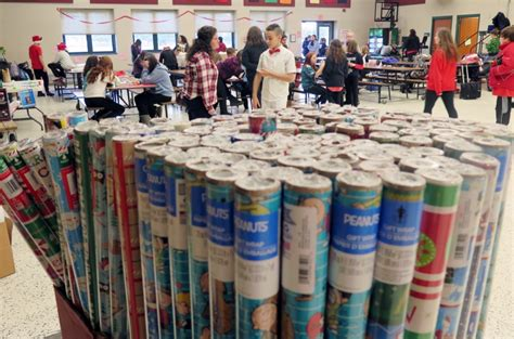 township washington giving annual students power organize presents program holiday middle