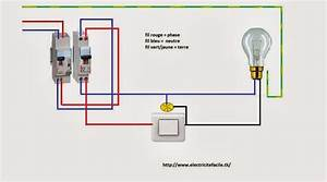 Branchement Interrupteur Temoin Lumineux Legrand : installation electrique simple allumage t moin ou voyant ~ Dailycaller-alerts.com Idées de Décoration