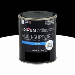 Peinture Noir Mat : peinture multi supports noir mat 0 75l castorama ~ Carolinahurricanesstore.com Idées de Décoration